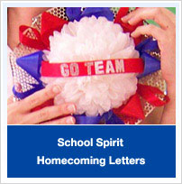 School Spirit Homecoming Letters