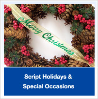 Script Holidays, Special Occasions Words