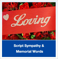 Script Sympathy and Memorial Words